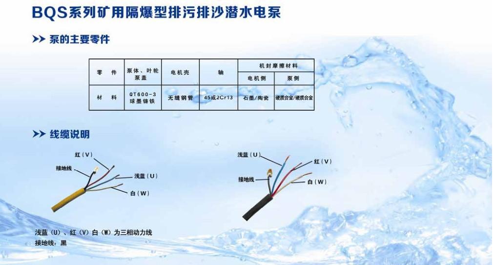 BQS矿用隔爆型潜水排沙电泵